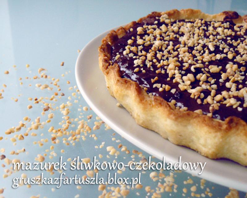 mazurek śliwkowo-czekoladowy
