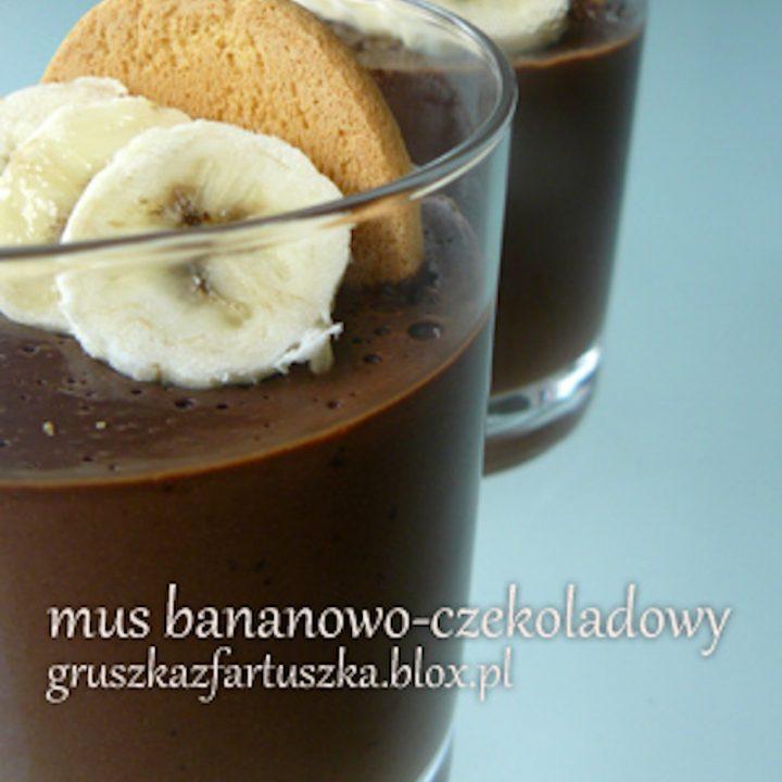 mus bananowo-czekoladowy