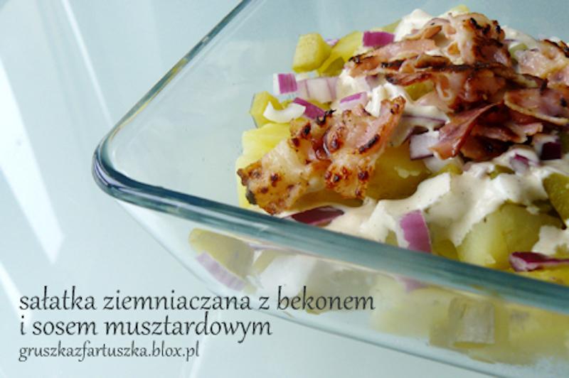 sałatka ziemniaczana z bekonem & sosem musztardowym