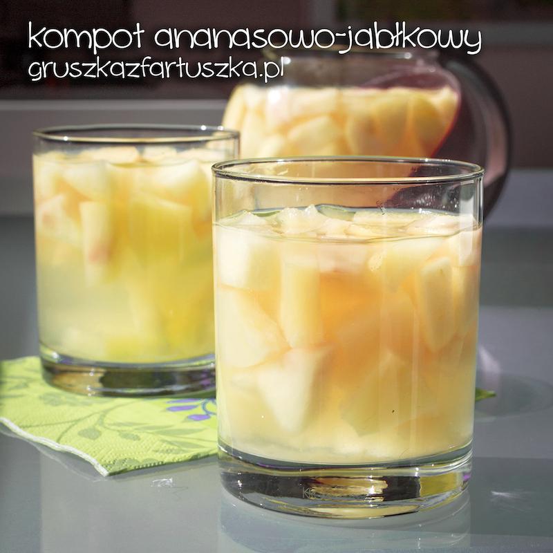 kompot ananasowo-jabłkowy