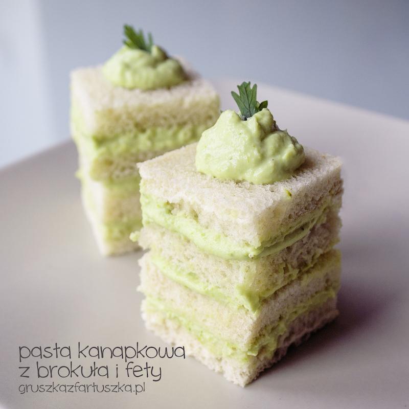 pasta kanapkowa z brokuła i fety