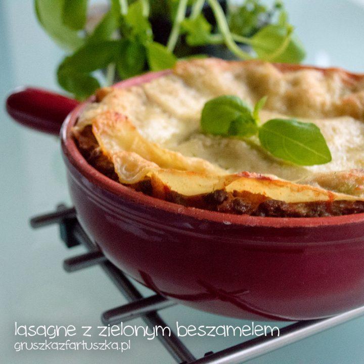 lasagne z zielonym beszamelem