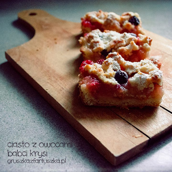 ciasto z owocami Babci Krysi