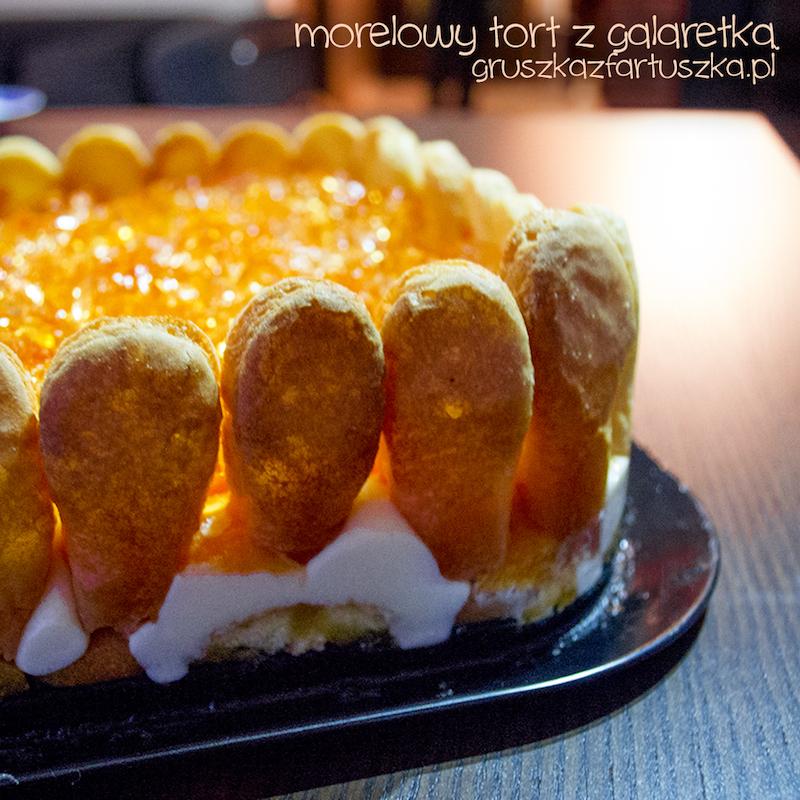 morelowy tort z galaretką