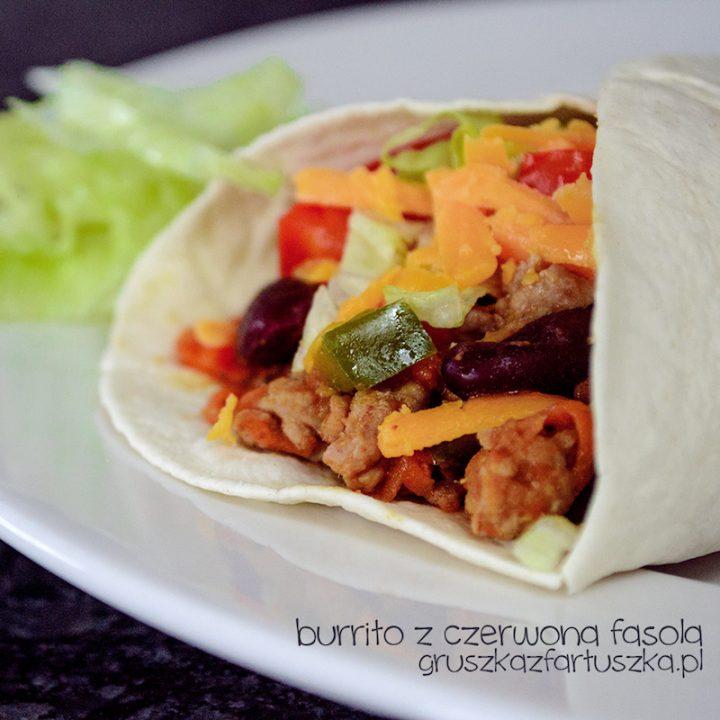 burrito z czerwoną fasolą