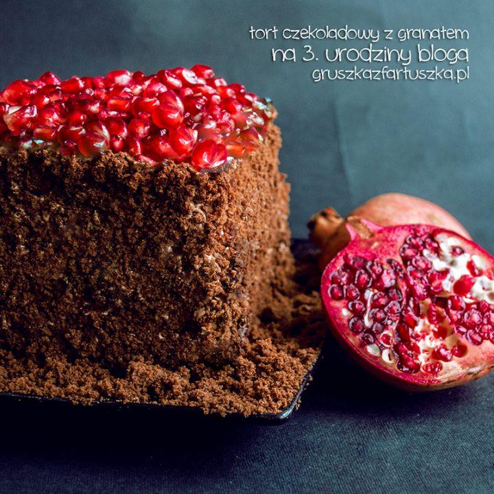 tort czekoladowy z granatem