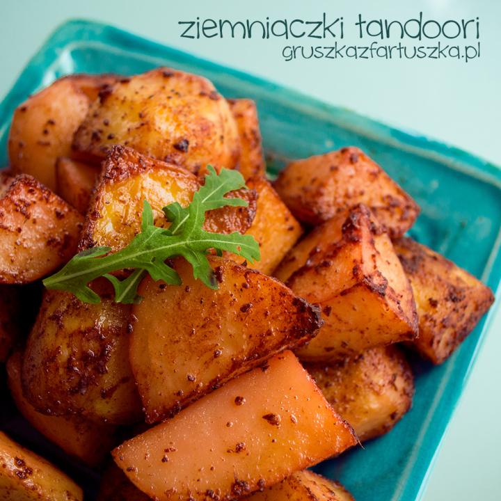 ziemniaczki tandoori i słoiczki od Patak's