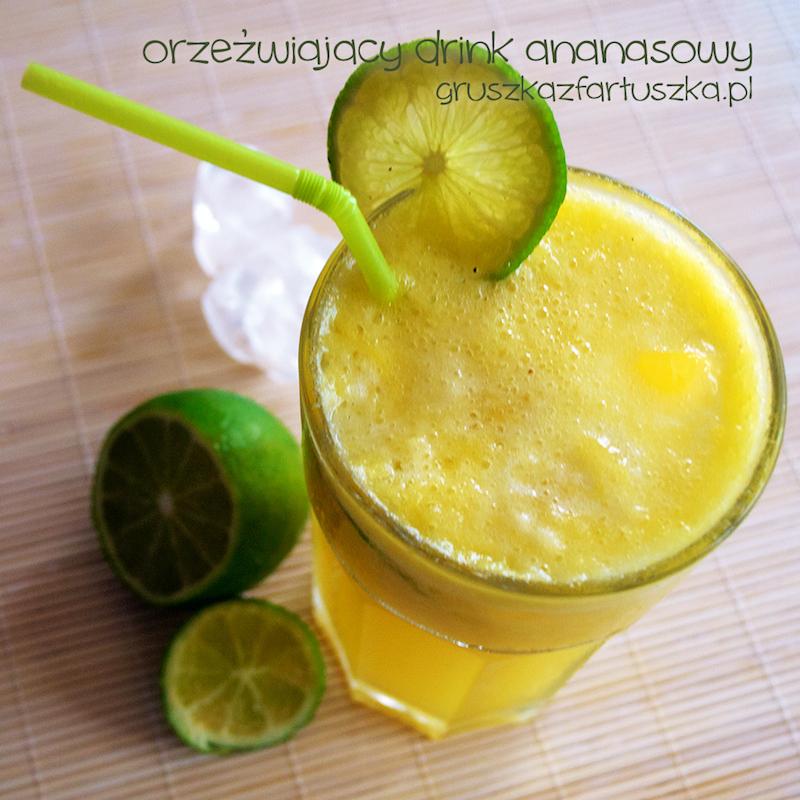 orzeźwiający drink ananasowy