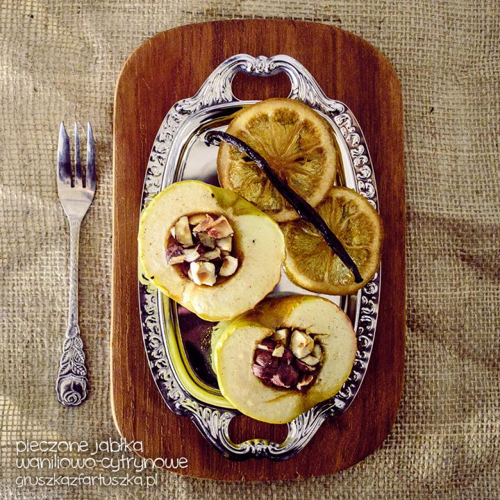 pieczone jabłka waniliowo-cytrynowe