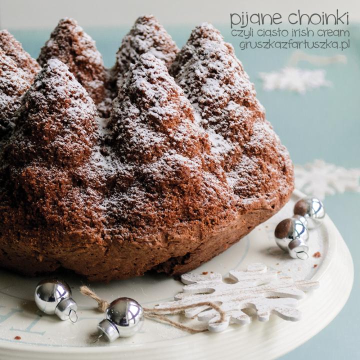 pijane choinki czyli ciasto irish cream
