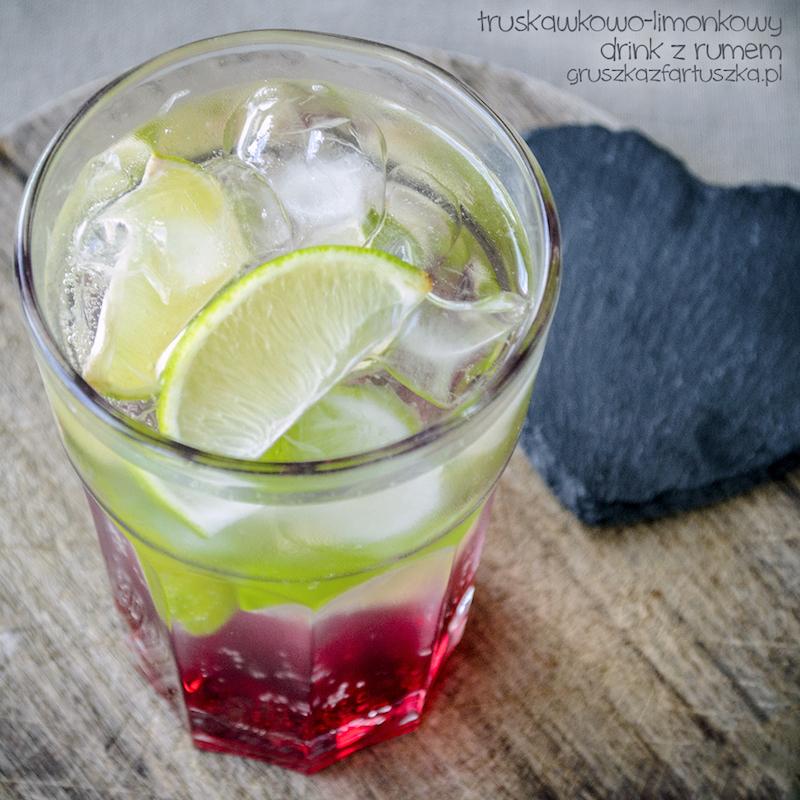 truskawkowo-limonkowy drink z rumem