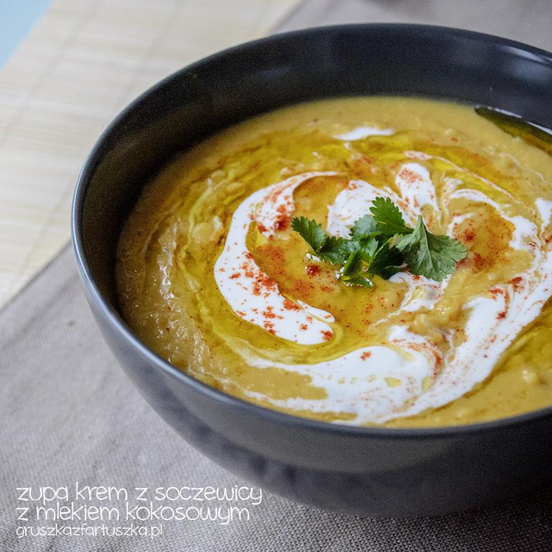 zupa krem z soczewicy z mlekiem kokosowym