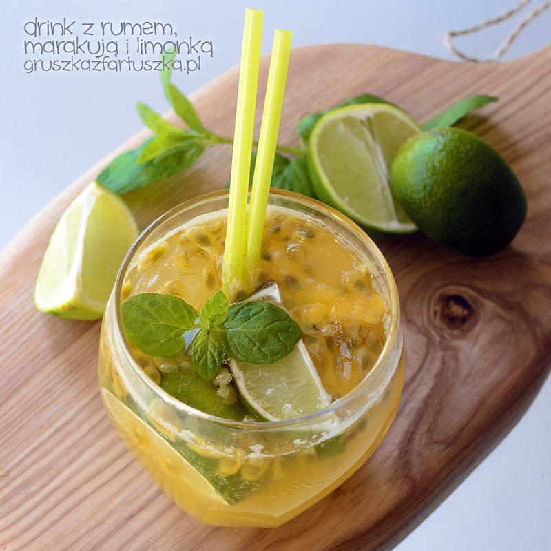 drink z rumem, marakują i limonką
