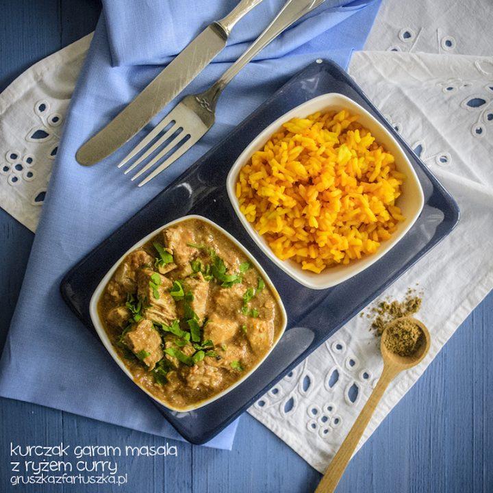 kurczak garam masala z ryżem curry