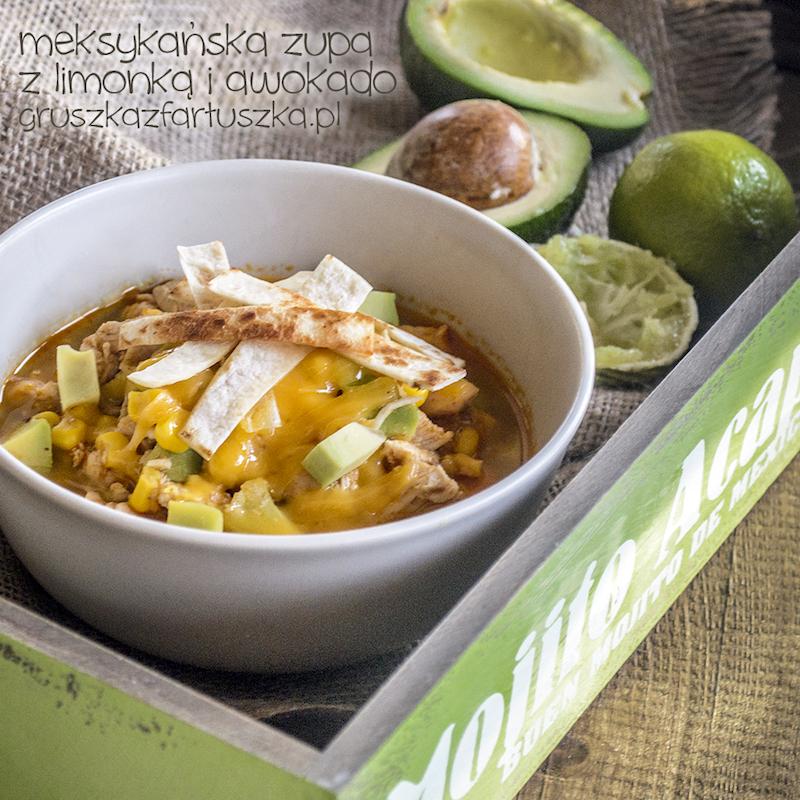 meksykańska zupa z limonką i awokado