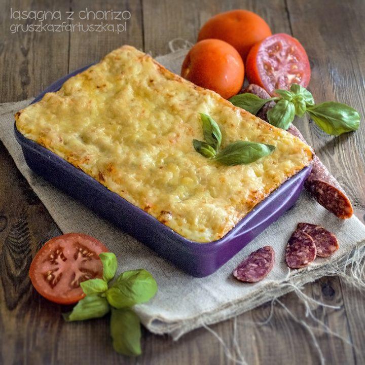 lasagna z chorizo
