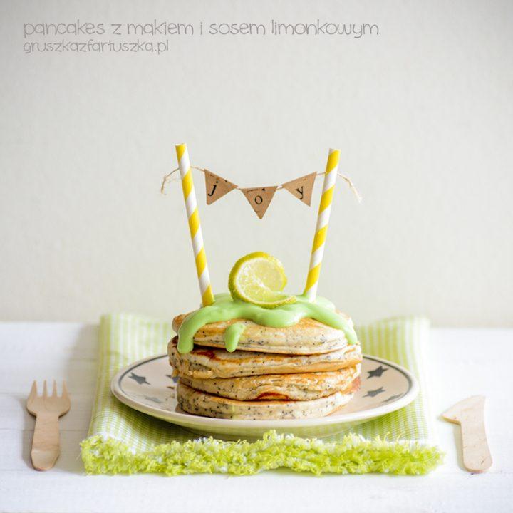 pancakes z makiem i limonkowym sosem