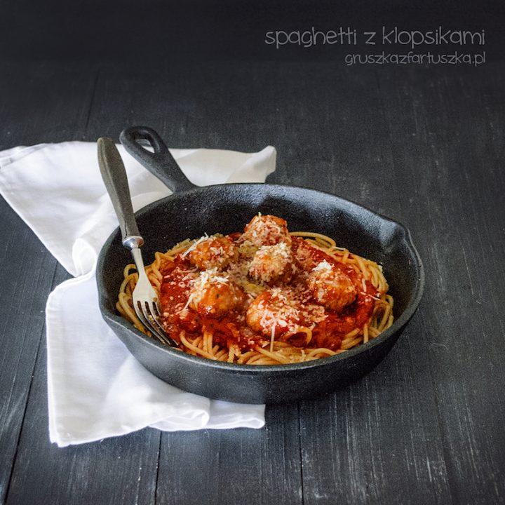 spaghetti z klopsikami