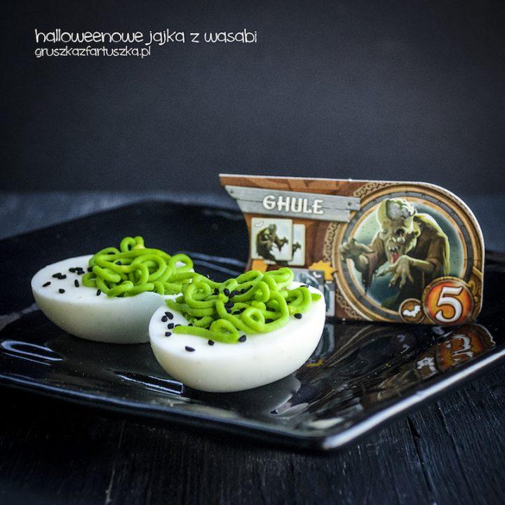 halloweenowe jajka z wasabi i