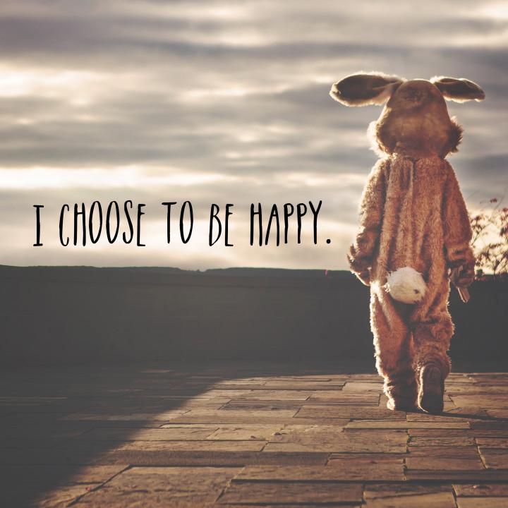 muszę, bo się uduszę - wybrałam bycie szczęśliwą.