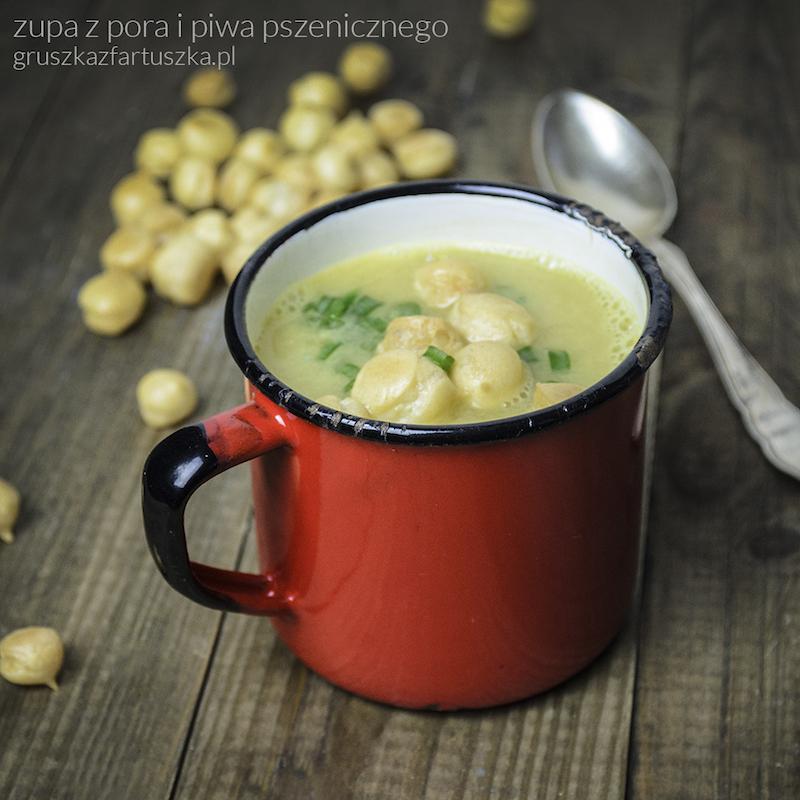 zupa z pora i piwa pszenicznego