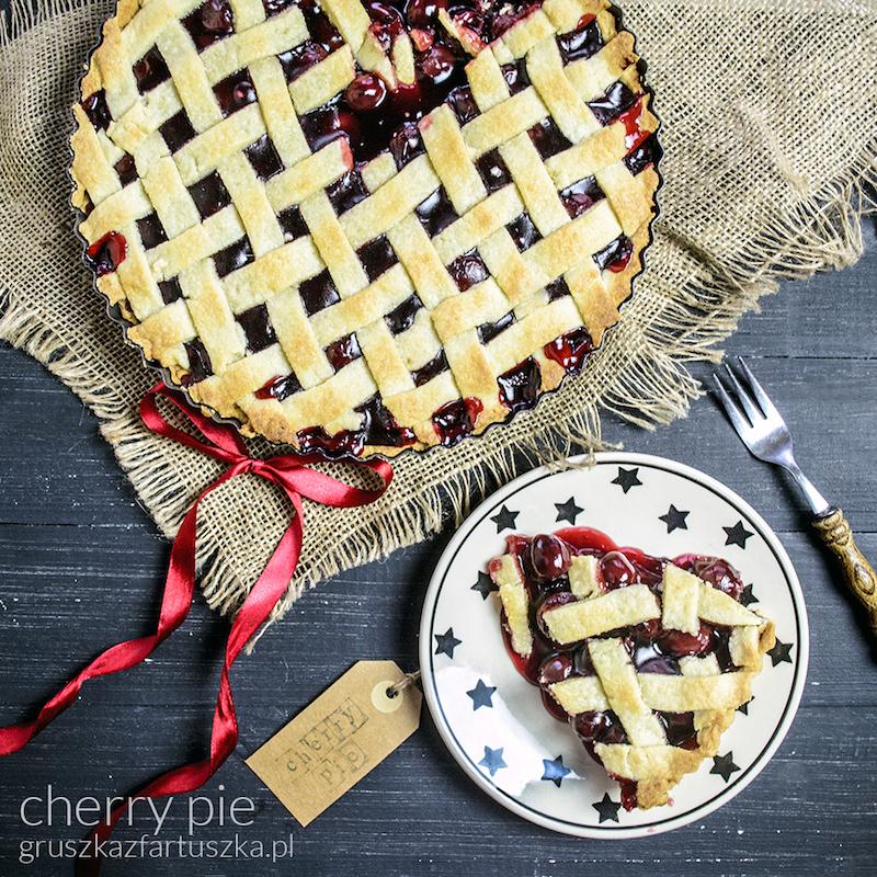cherry pie czyli kruche ciasto z wiśniami