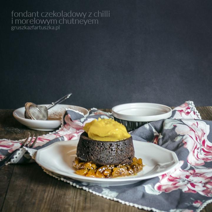 fondant czekoladowy z morelowym chutneyem według laureata VI edycji konkursu
