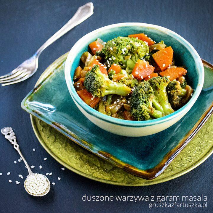 duszone warzywa z garam masala