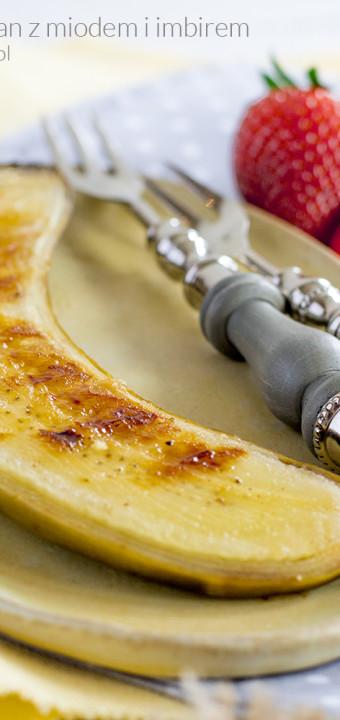 grillowany banan z miodem i imbirem