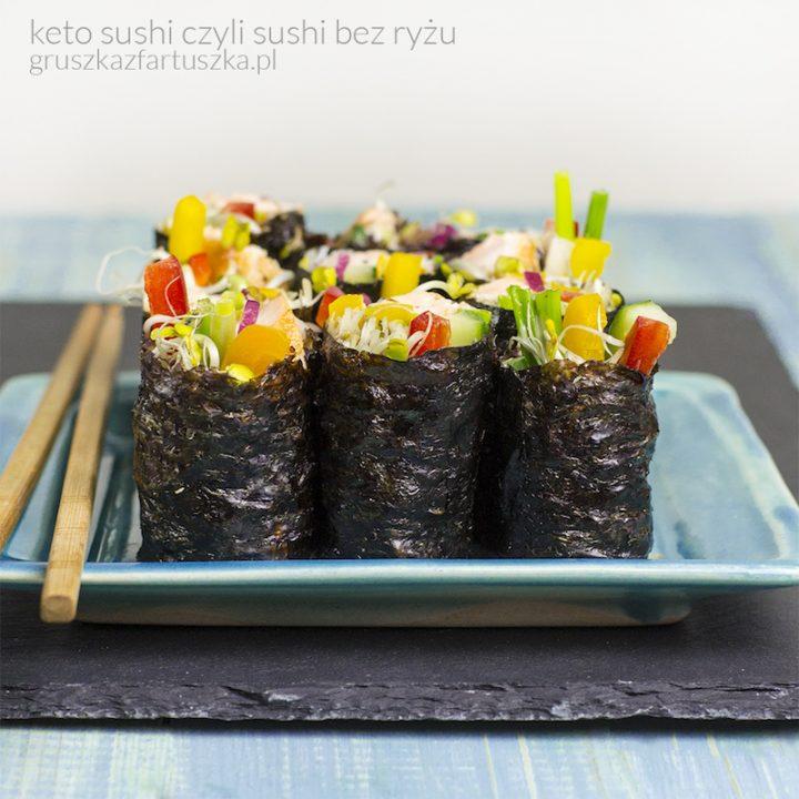 keto sushi czyli sushi bez ryżu