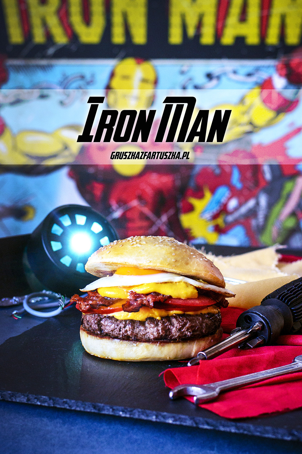 iron man burger