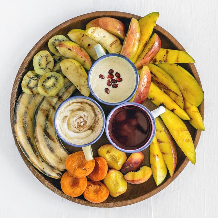 słodkie dipy do grillowanych owoców i lodów oraz rozwiązanie konkursu #widzimysienagrillu