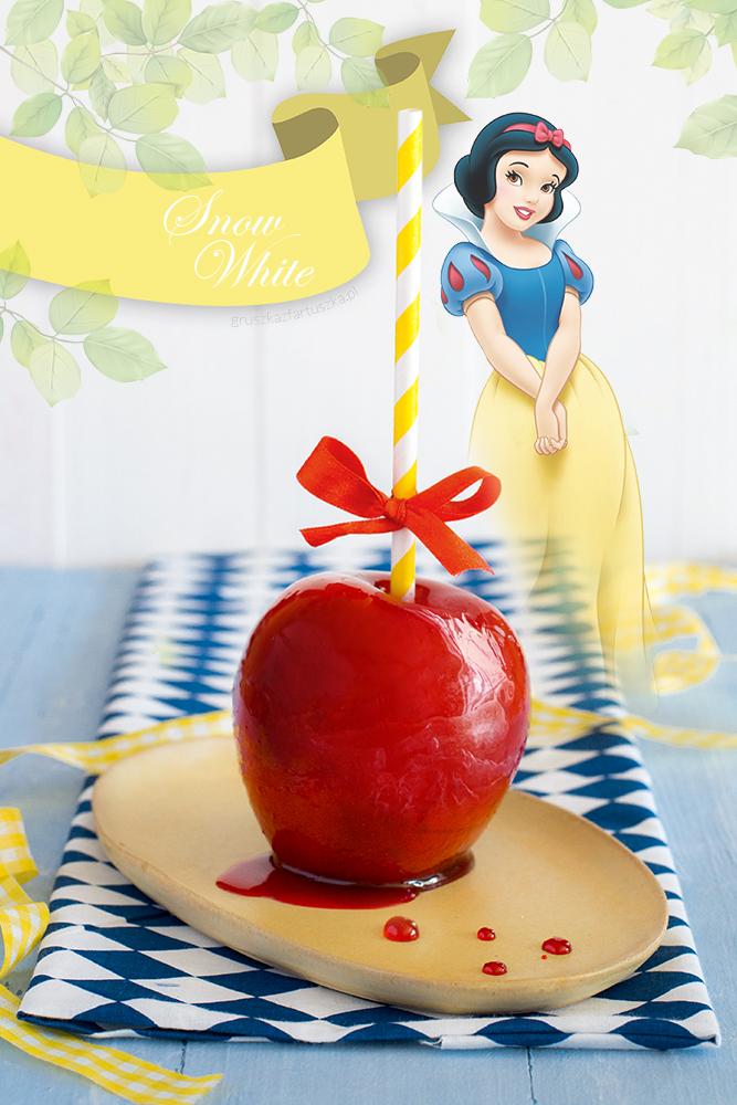 snow white królewna śnieżka jabłko w karmelu