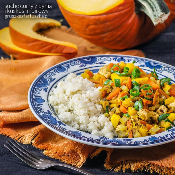 suche curry z dynią i kuskus imbirowy