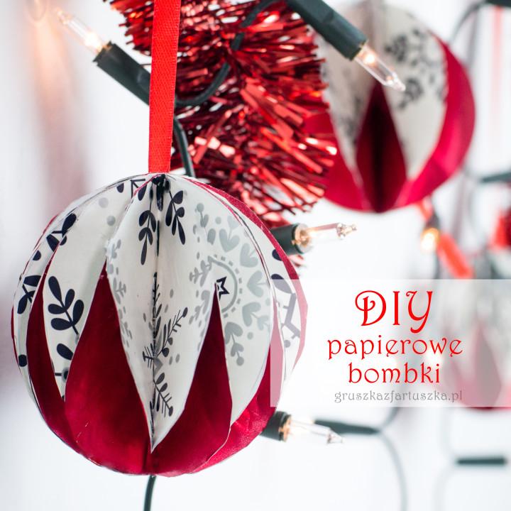 DIY - papierowe bombki