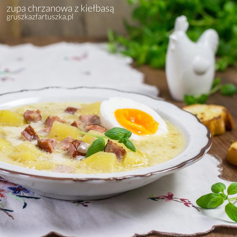 zupa chrzanowa z kiełbasą