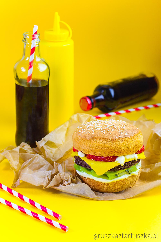 słodki burger brownie