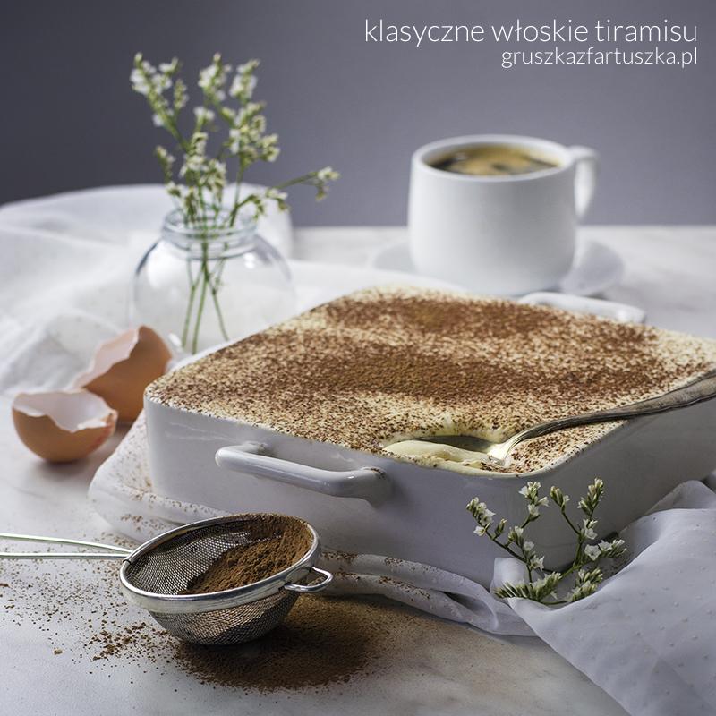 klasyczne włoskie tiramisu