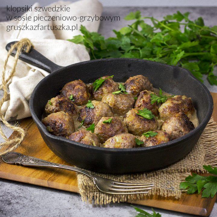 szwedzkie klopsiki w sosie pieczeniowo-grzybowym