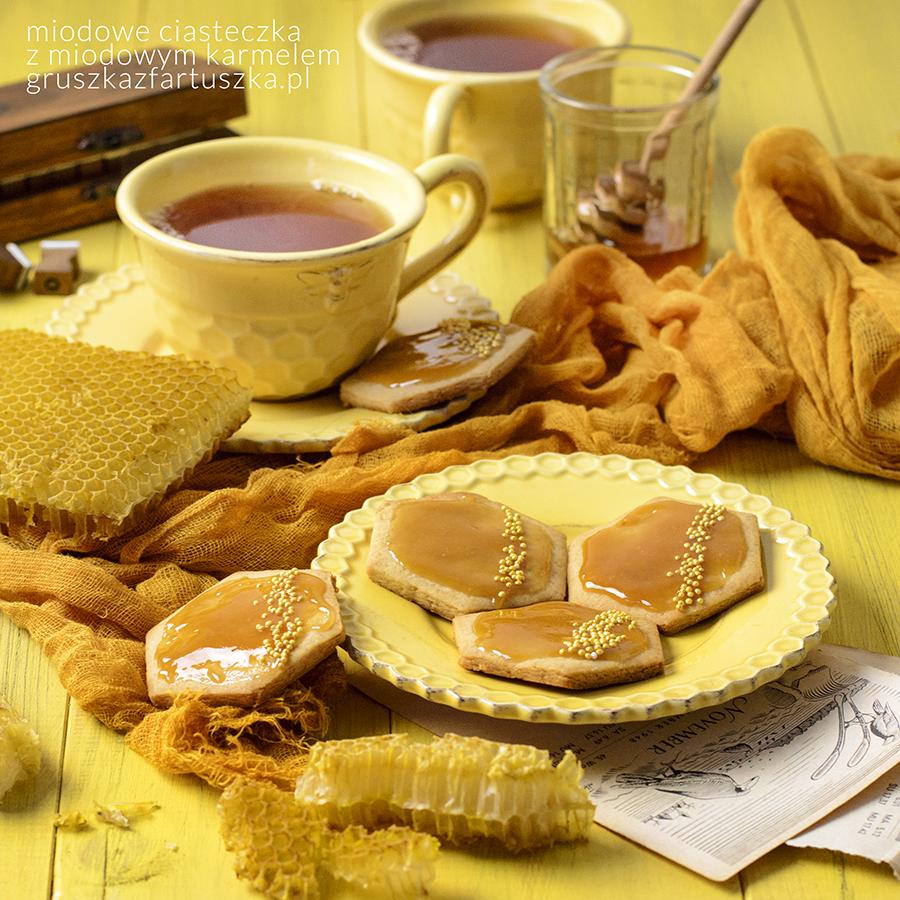 miodowe ciasteczka z miodowym karmelem