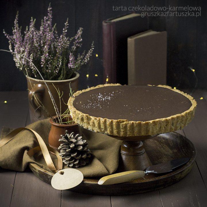 aksamitna czekolada czyli korzenna tarta czekoladowo-karmelowa