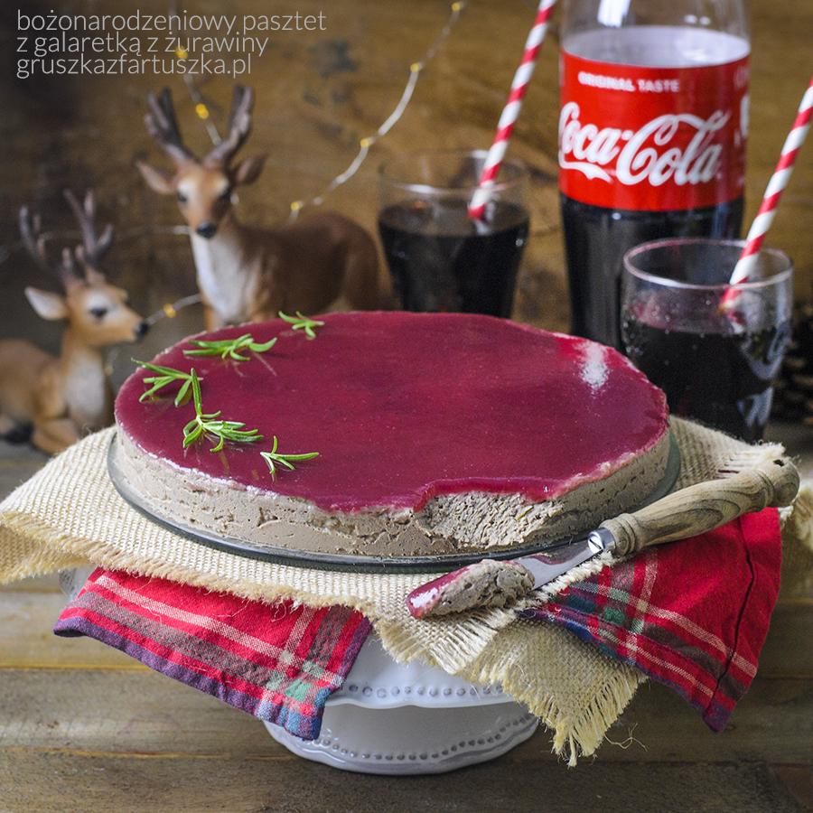 bożonarodzeniowy pasztet z galaretką z żurawiny
