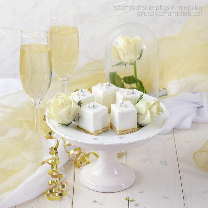 szampańskie ptasie mleczko - całe w bieli