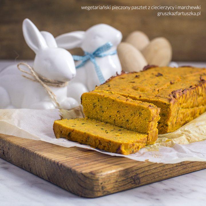 wegetariański pieczony pasztet z soczewicy i marchewki